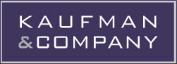 Kaufman & Company logo and home button